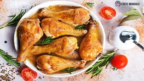 Fırında Kızarmış Tavuk Butları